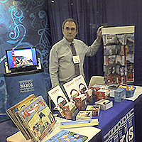 William Anderson during a rare quiet moment at the Book Expo New York