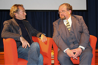 Anton Lesser (left) and David Timson (right) at the Chipping Campden Literature Festival