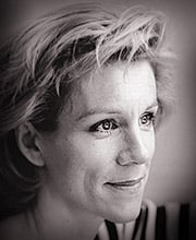 Juliet Stevenson in the studio.