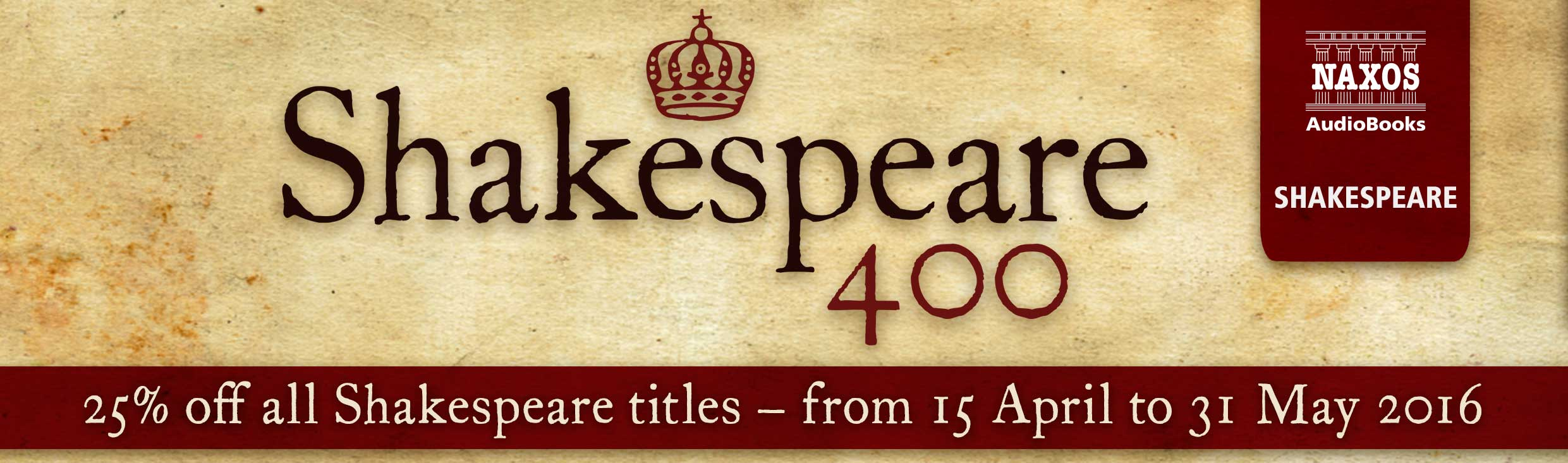 Shakespeare 400 – 25% off all titles